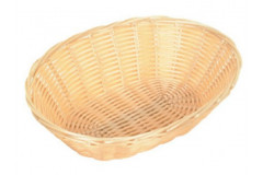 "Bread Basket 9""- Plastic Wicker"