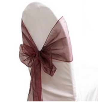 Burgundy - Chair Sash - Organza