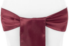Burgundy - Chair Sash - Satin
