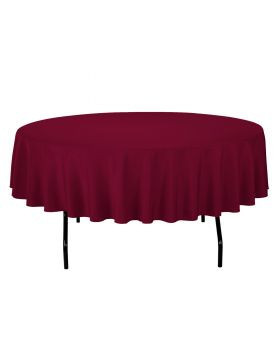 Burgundy - Round Tablecloth – Poly – 90""