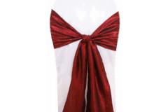 Burgundy – Chair Sash - Taffeta Crinkle