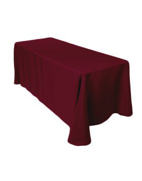 "Burgundy – Rectangle Tablecloth - Poly- 90""x156"""