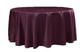 Burgundy – Round - Tablecloth - Lamour – 120""