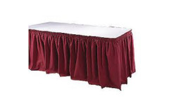 Burgundy – Table Skirt – Poly - 17'