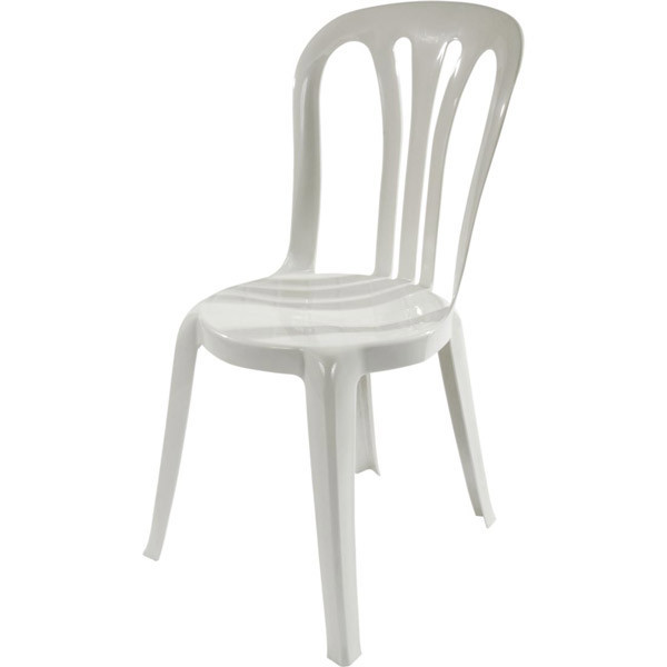 chair - plastic bistro - white