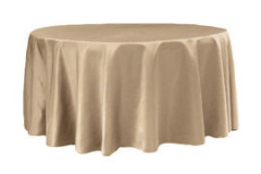 Champagne – Round - Tablecloth - Lamour – 120""