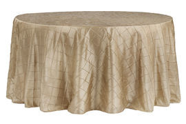 Champagne – Round - Tablecloth – Pintuck - 120""