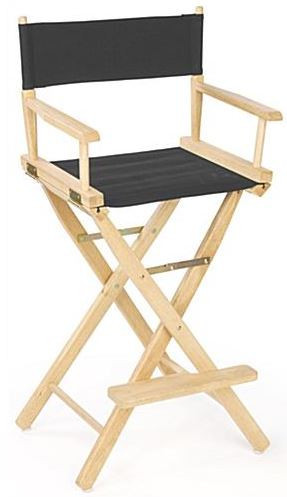 director's chair – canvas black