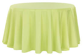 Apple Green – Round - Tablecloth - Lamour – 120""