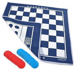 GoSports – Giant Double Sided Checkers \ Connect 4 Game Mat