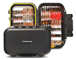 fishinsir – 120 pc handmade flies & fly box
