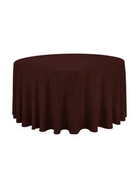Chocolate - Round Tablecloth – Poly – 120""