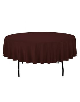 Chocolate - Round Tablecloth – Poly – 90""