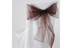 Chocolate – Chair Sash - Organza