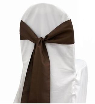 Chocolate – Chair Sash - Satin