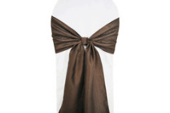 Chocolate – Chair Sash - Taffeta Crinkle