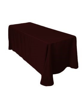"Chocolate - Rectangle Tablecloth – Poly – 90""x132"""