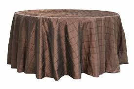 Chocolate – Round - Tablecloth – Pintuck - 120""