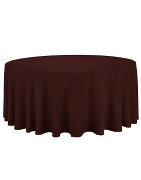 Chocolate – Round Tablecloth – Poly - 132""