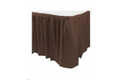 Chocolate – Table Skirt  – Poly - 17'