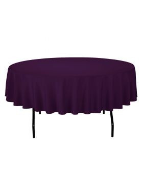 Eggplant - Round Tablecloth – Poly – 90""