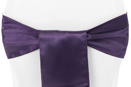 Eggplant – Chair Sash - Satin
