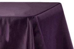 "Eggplant - Rectangle - Tablecloth – Satin – 90""x156"""