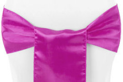 Fuchsia – Chair Sash - Satin