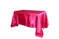 "Fuchsia – Rectangle Tablecloth – Satin – 90""x156"""