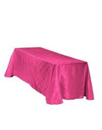 "Fuchsia – Rectangle Tablecloth - Poly- 90""x156"""