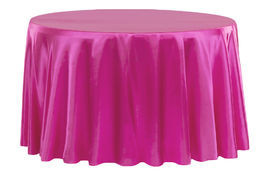 Fuchsia – Round - Tablecloth - Satin 120""