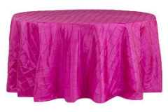 Fuchsia – Round - Tablecloth – Pintuck - 120""