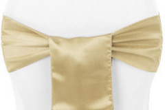Gold - Chair Sash - Satin