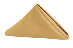"Gold - Napkin – Poly – 20""x20"""