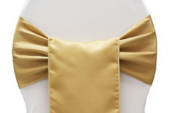 Gold – Chair Sash - Lamour