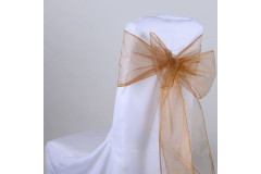 Gold – Chair Sash - Organza