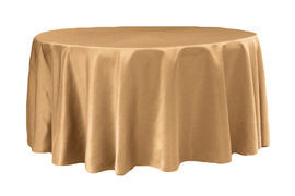 Gold – Round - Tablecloth - Lamour – 120""