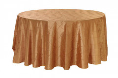 Gold – Round - Tablecloth – Pintuck - 120""