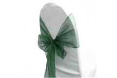 Hunter Green – Chair Sash - Organza
