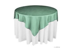 "Hunter Green – Overlay – Organza – 72""x72"""