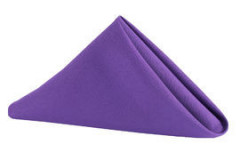 "Purple - Napkin – Poly – 20""x20"""