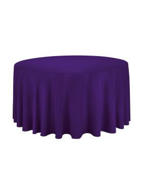 Purple - Round Tablecloth – Poly – 120""