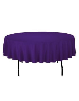Purple - Round Tablecloth – Poly – 90""