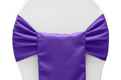 Purple – Chair Sash - Lamour