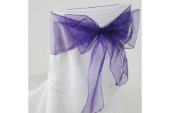 Purple – Chair Sash - Organza
