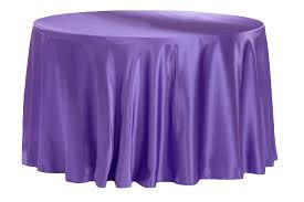 Purple – Round - Tablecloth - Lamour – 120""