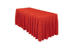 Red -Table Skirt – Poly - 17'