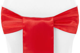 Red – Chair Sash - Satin