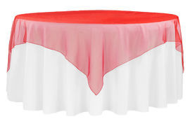 "Red – Overlay – Organza – 72""x72"""