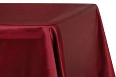 "Red – Rectangle - Tablecloth – Satin – 90""x156"""